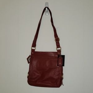 New red leather crossbody